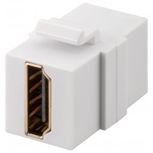 Keystone moodul: HDMI F / F 1080p,valge