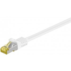Võrgukaabel Cat7 S/FTP 0.5m, valge, PiMF, LSZH, CU