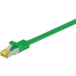 Võrgukaabel Cat7 S/FTP 0.5m, roheline, PiMF, LSZH, CU