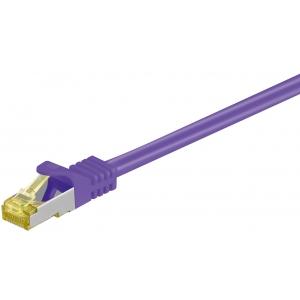 Võrgukaabel Cat7 S/FTP 1.0m, lilla, PiMF, LSZH, CU