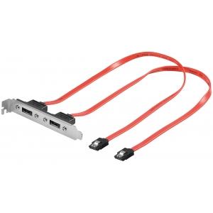 SATA PCI slot x 2 (emaplaadi eSATA siinile) 0.5m
