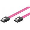 SATA kaabel 0.5m (SATA 1.5/3.0 GByte/s), lukustiga
