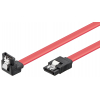 SATA kaabel 0.5m (SATA 1.5/3.0 GByte/s), nurgaga, lukusti