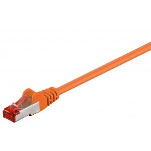 Võrgukaabel Cat6 S/FTP 0.25m, oranz, PiMF, LSZH, CU