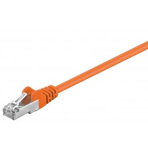 Võrgukaabel Cat5e FTP 0.5m, oranz, CCA