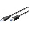 USB 3.0 kaabel A - B 1.8m, must