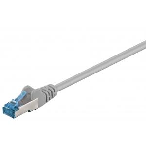 Võrgukaabel Cat6a S/FTP 1.0m, hall, PiMF, LSZH, CU