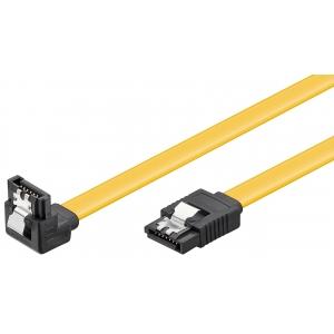 SATA kaabel 0.7m (SATA 1.5/3.0/6.0 GByte/s), nurgaga