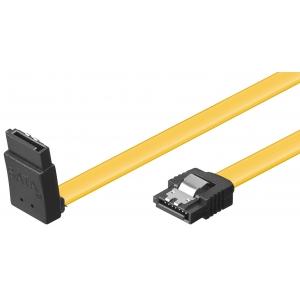 SATA kaabel (SATA 1.5GBs / 3GBs / 6GBs) 0.3m, L - L 90kraadi nurgaga