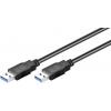 USB 3.0 kaabel A - A 0.5m, must