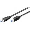 USB 3.0 kaabel A - B 0.25m, must