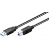 USB 3.0 kaabel A - B 0.5m, must