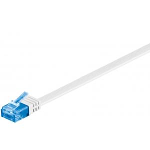 Võrgukaabel Cat6a UTP 15.0m, valge, lapik, CU