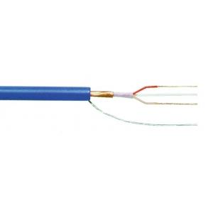 Mikrofonikaabel 2x0,22mm² sinine varjestatud ø4,8mm