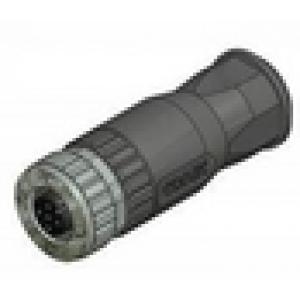 M12 CONN 4PIN FEM CABLE STR SCREW