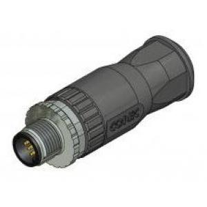 M12 CONN 4PIN MALE CABLE STR SCREW