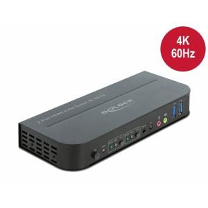 KVM switch: 2 porti, HDMI, USB 3.0, 4K@60Hz, kaablitega,