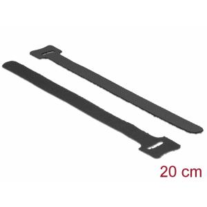 Takjapael kaabliside 12mm x 200mm, must, (10.tk)