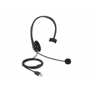 Kõrvaklapid mikrofoniga, USB 2.0-A, hästi kerged, ühe kolariga