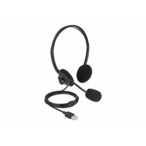 Kõrvaklapid mikrofoniga, USB 2.0-A, hästi kerged