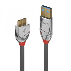 USB 3.0 kaabel A - Micro B 2.0m, CROMO