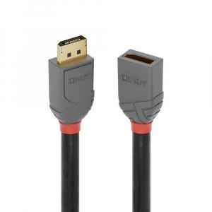 DisplayPort pikenduskaabel 0.5m, Anthra Line