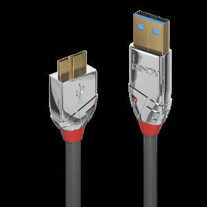 USB 3.0 kaabel A - Micro B 0.5m, CROMO