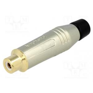 RCA pesa kaablile metallist, must, kullatud 3-7mm, Amphenol