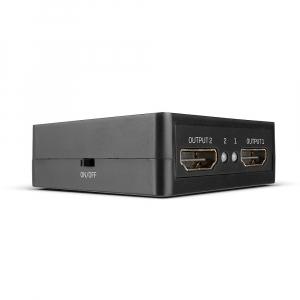 HDMI splitter, 1 sisse/ 2 välja Compact,  4K@60Hz