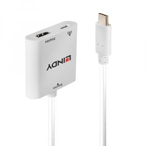 Konverter USB-C (M) - HDMI (F), 4096x2160@60Hz, eraldi USB C toite pesaga 0.15m