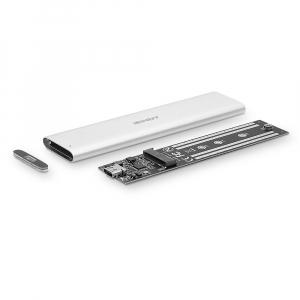 Kõvakettakarp SSD kettale, USB3.1, Gen2 M.2, hõbe