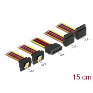SATA Toitekaabel 15pin - SATA 15 pin 2x üles / 2x alla