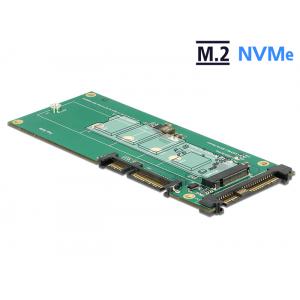 Konverter U.2 SFF-8639 NVMe / SATA 22 pin - 1 x M.2 Key M