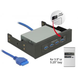 """Moodul 3.5"""" / 5.25"""" USB 3.0 HUB 4 Porti"""