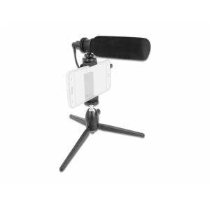 Mikrofon 3.5mm 4pin - nutitelefonidele ja DSLR kaameratele, statiiviga
