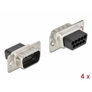 D-Sub 9 pin (M), pressitav, 4tk/pakk