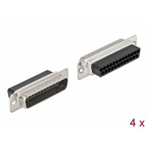 D-Sub 25 pin (M), pressitav, 4tk/pakk