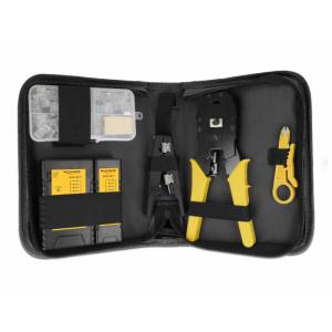 LAN tööriistade komplekt (tester, tangid, Krone tangid, kaablikoorija, RJ45/11 pistikud)