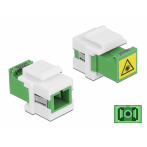 FO adapter singlemode SC simplex roheline optika ja tolmu kaitsmega