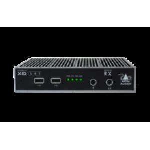 KVMi pikendaja läbi CATx kuni 100m,läbi fiibri kuni 4km (2xDP Single, 2x USB 2.0, 3.5mm, 1x SFP) (komplekt)
