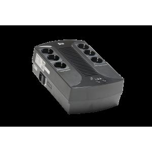 UPS 360W/600VA line-interactive, 1x 12V/7Ah, 6x CEE 7/3, 2x USB-A