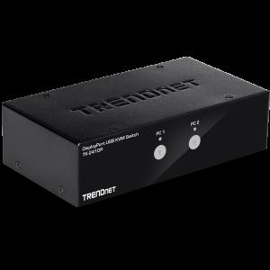KVM switch: 2 porti, Displayport, 2xUSB A, audio, mikrofon, 4K UHD 3840x2160