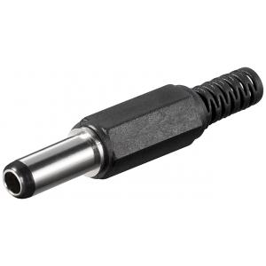DC pistik kaablile 2,5x5,5mm L=14mm
