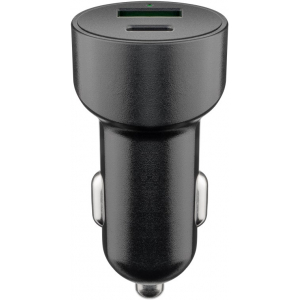 USB Autolaadija 1xUSB-C (PD), 1xUSB  USB-A QC (QuickCharge), 3A, 48 W, sobib iPhone 12-le