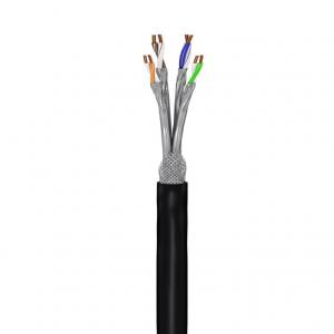 Keerdpaarkaabel Cat7 S/FTP ühekiuline PiMF 23AWG, OFC, CU, must, 100m/rull, välitingimustele