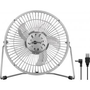 Ventilaator lauale Ø22 cm (8´´), kaabel 1.2m, on/off lüliti, USB, metallist raam