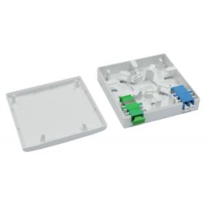 FO seinakarp 2 kiudu 2xSC simplex/LC duplex, tühi, splice hoidjaga
