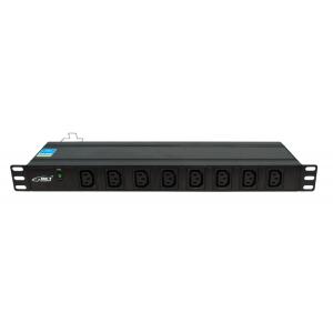 "Toitepaneel 19"" 1U, ees 8xC13, taga 8xC13, IEC320 C20 16A / 250V toitepistik"