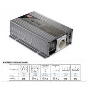 Inverter DC-AC 400W 10.5~15V-230V 50Hz, puhta siinusväljundiga