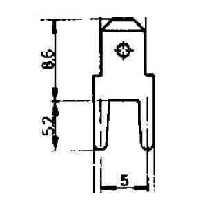 Kaabliking 4,8x0,8mm PCB (hole 1,4mm)
